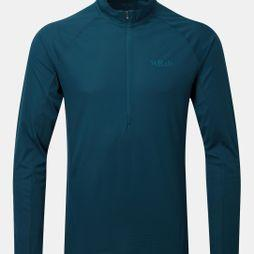 Rab Mens Pulse Long Sleeve Zip Tee Ink