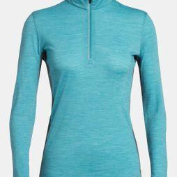 Icebreaker Amplify LS Half Zip Arctic Teal Heather/Nightfall Heather