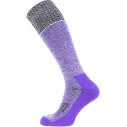 SealSkinz Solo Quickdry Knee Length Socks Purple/Grey/Light grey