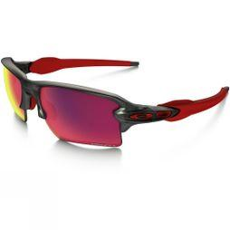 Oakley Flak 2.0 XL Prizm Road Sunglasses Matte Grey Smoke/Prizm Road