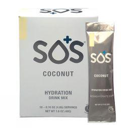 SOS Hydration  SOS Electrolyte Drink - Coconut 10 Sachets Coconut