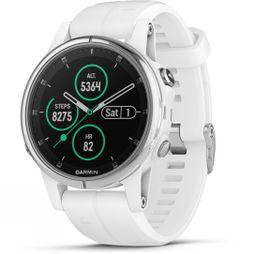 Garmin Fenix 5S Plus Sapphire Multisport GPS Watch White/White Band