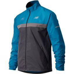 New Balance Mens London Edition Marathon Windcheater Jacket Dark Neptune