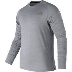 New Balance Mens Seasonless Long Sleeve Shirt Athletic Grey