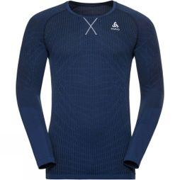 Mens Top Crew Neck L/S Blackcomb Light