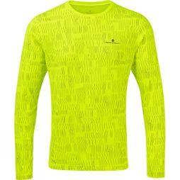 Ronhill Mens Momentum Afterlight L/S Tee Fluo Yellow/Reflect