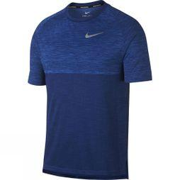Nike Mens Dry Medalist Running Top Signal Blue/Blue Void