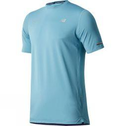 New Balance Mens NB Ice 2.0 Short Sleeve London Edition T-Shirt Blue Fog