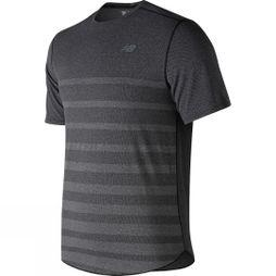 New Balance Mens Q Speed Jacquard Short Sleeve Black Heather