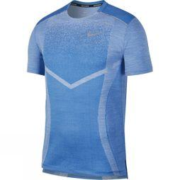 Nike Men's TechKnit Ultra Short Sleeve Running Top Light Photo Blue