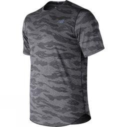 New Balance Men's Q Speed Breathe Short sleeve top BKHEATHR
