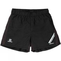 Salomon Mens Agile Shorts Black