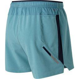 New Balance Mens Impact 5in Shorts Blue Fog