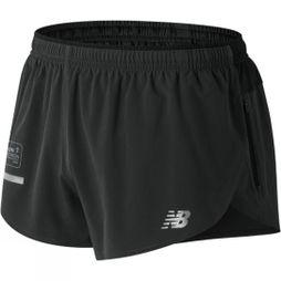 New Balance Mens London Edition Impact Split Short 3in Black