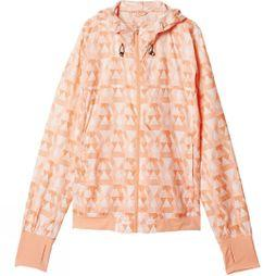 Adidas Women's Run Graphic Jacket Sun Glow