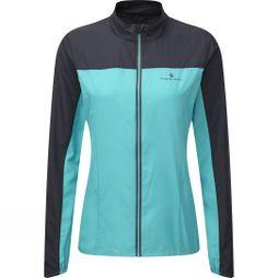 Ronhill Women's Stride Windspeed Jacket Peacock/Charcoal