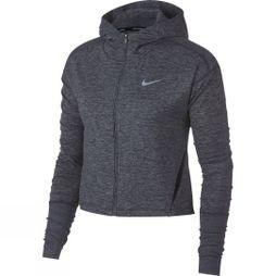 Nike Womens Element Full Zip Hoodie Gridiron/Ashen Slate Heather