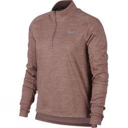 Nike Womens Pacer 1/2-Zip Running Top Smokey Mauve/Rust pink