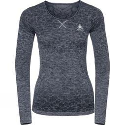 Odlo Womens Blackcomb BL Long Sleeve Crew Neck Top Navy/Mid Grey