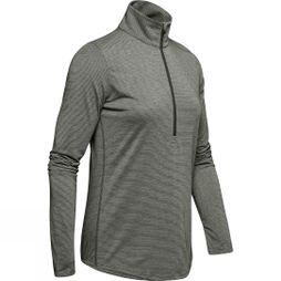 Under Armour Women's Threadborne Streaker Half Zip Artillery Green