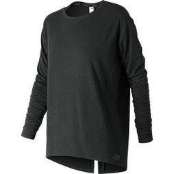 New Balance Women's Studio Relaxed Long Sleeve Top Black