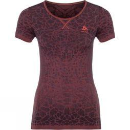 Odlo Womens BL Top Crew Neck Blackcomb Light  Navy/Maroon