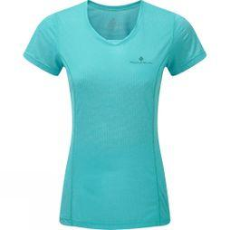 Ronhill Womens Stride Short Sleeve Tee Peacock/Charcoal