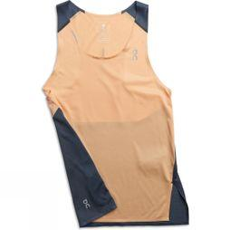 On Womens Tank-T Coral/Navy