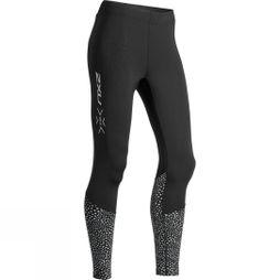 2XU Womens MCS Run Thermal Compression Tights Black/Silver Glo Reflective