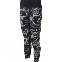 Ronhill Womens Momentum Crop Tights Black Marble