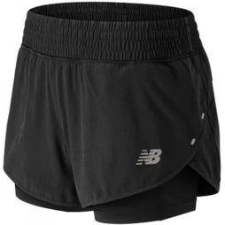 New Balance Womens 4in Impact Short Black