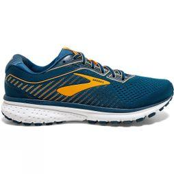 Brooks Men's Ghost 12 Poseidon/Grey/Orange