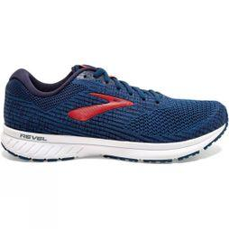 Brooks Men's Revel 3 Poseidon/Navy/Red