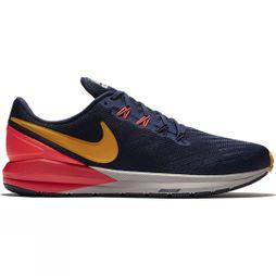 Nike Mens Air Zoom Structure 22 Blackened Blue/Orange Peel-Flash Crimson