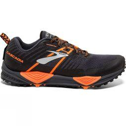 Brooks Mens Cascadia 13 Grey/Black/Orange