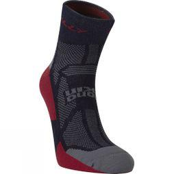 Hilly Off Road Sock Navy / Red