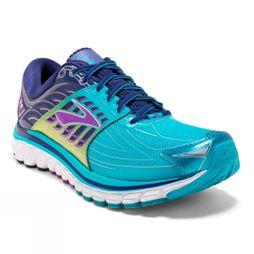 Brooks Womens Glycerin 14 Scuba Blue/Navy Blue/Purple Cactus Flower