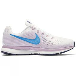 Nike Womens Air Zoom Pegasus 34 Summit White/Equator Blue-Elemental Rose