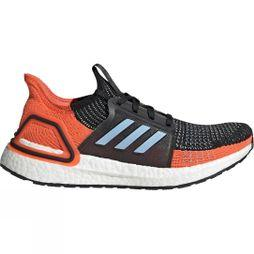 Adidas Women's Ultraboost 19 core black/glow blue/hi-res coral