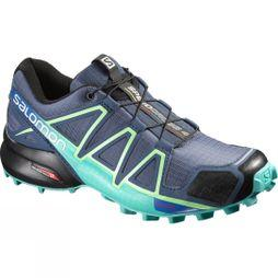 Salomon Women's Speedcross 4 Slateblue/Spa Blue/ Fresh Green