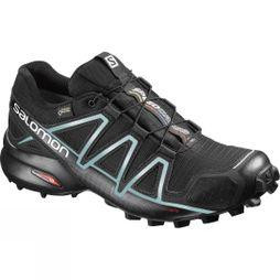 Salomon Women's Speedcross 4 Gore-Tex Black/Black/Metallic Bubble Blue