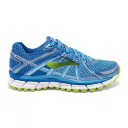 Brooks Womens Adrenaline GTS 17 Azure Blue/Palace Blue/Lime Punch