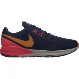 Nike Womens Air Zoom Structure 22 Blackened Blue/Orange Peel-Flash Crimson