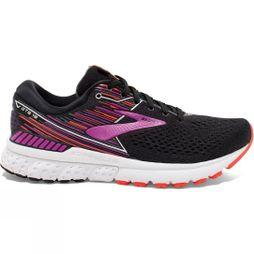 Brooks Womens Adrenaline GTS 19 Wide Black/Purple/Coral