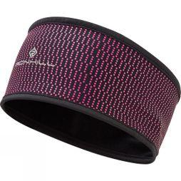 Ronhill Wind-Block Headband Black/Azalea