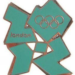 Official 2012 Logo Pin Badge Green