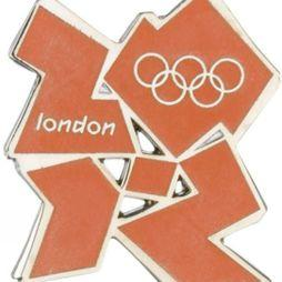 Official 2012 Logo Pin Badge Orange