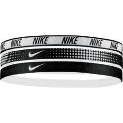Nike Printed Headbands 3 Pack Black/White