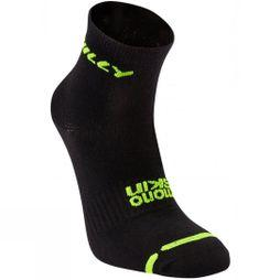 Hilly Mono Skin Lite Anklet Black/Fluo Yellow