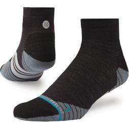 Mens Uncommon Solids Wool QTR Socks
